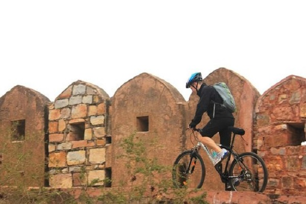 Cycling in Nahargarh Fort